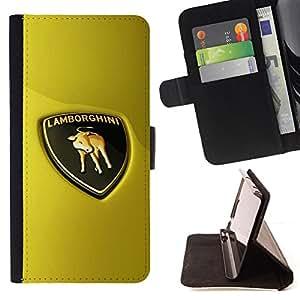 """For Samsung Galaxy Note 5 5th N9200,S-type Racing Bull italiana de Super Sports Car"""" - Dibujo PU billetera de cuero Funda Case Caso de la piel de la bolsa protectora"""