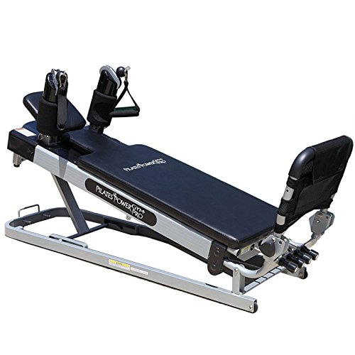 Pilates Power Gym 'Cardio' 3-Elevation Pilates Mini Reformer Including: The Power Flex Cardio Rebounder and 5 Celebrity Trainer Pilates Workout DVDs - ONLY AVAILABLE ON AMAZON by Pilates Power Gym