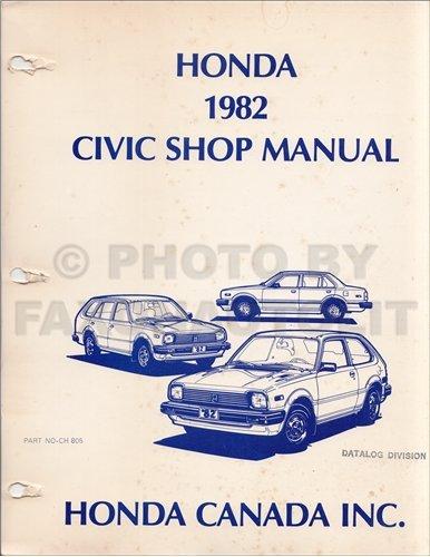1982-1983 Honda Civic Original Repair Manual Hatchback Wagon
