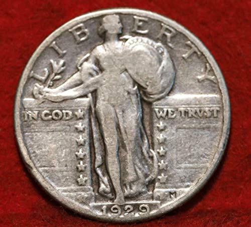 1929 U.S. Standing Liberty Silver Quarter Dollar, (1-Coin) Strong Full Date (1/4) Fine to XF ()