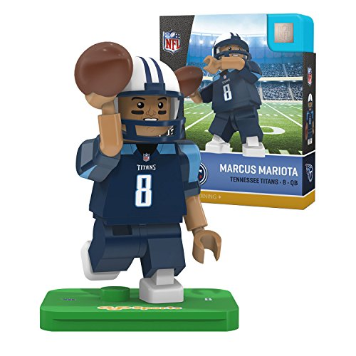 Score Tennessee Titans Nfl Card (NFL Tennessee Titans Gen4 Limited Edition Marcus Mariota Mini Figure, Small, White)