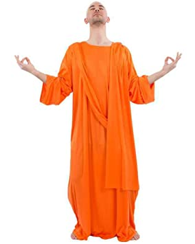 nice cheap the sale of shoes great deals Mens Adult Buddhist Monk Fancy Dress Costume Robe Religion Asia Meditation  Outfit Orange