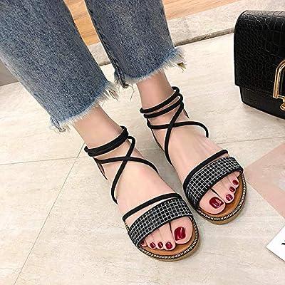 Woman Sandals 2019 Summer Bright Sandals Shoes Open Toe Casual Beach Sandals