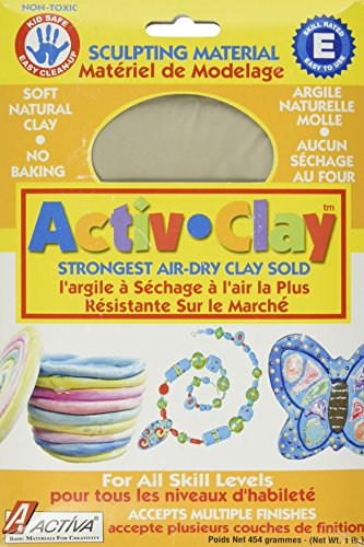 Activ Clay Air (ACTIVA Activ-Clay, air dry, 1 pound White)