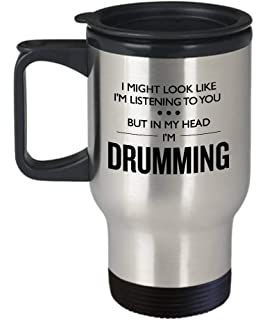 4ad61779ded Funny Drummer Travel Mug Band Gift In My Head Im Drumming Stainless Steel