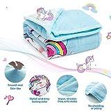 BUZIO Kids Weighted Blanket 7lbs, Unicorn Fleece