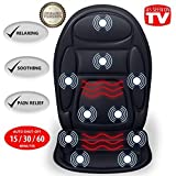 Gideon Vibrating Seat Cushion Back Massager for Body, Shoulder...