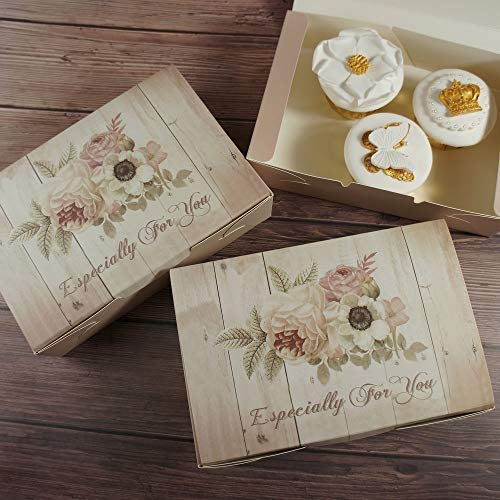 DHmart Retro 21145cm 10pcs wood flower Paper Box