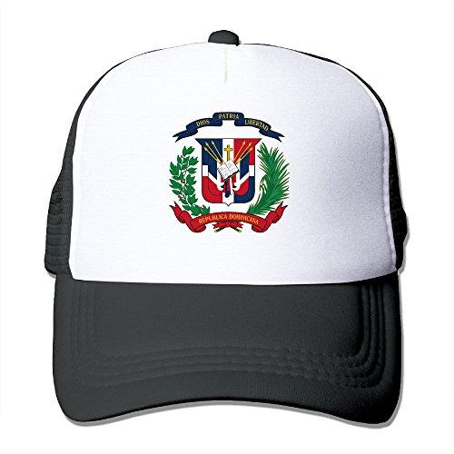 Dominican Coat Of Arms - Coat Of Arms Dominican Republic Unisex Adjustable Mesh Cap Trucker Hat Black