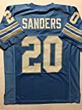 Unsigned Barry Sanders Detroit Blue Custom Stitched Football Jersey Size XL New No Brands/Logos