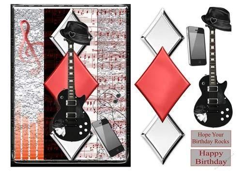 Black and Chrome Guitar by Jan Mason Craftsuprint