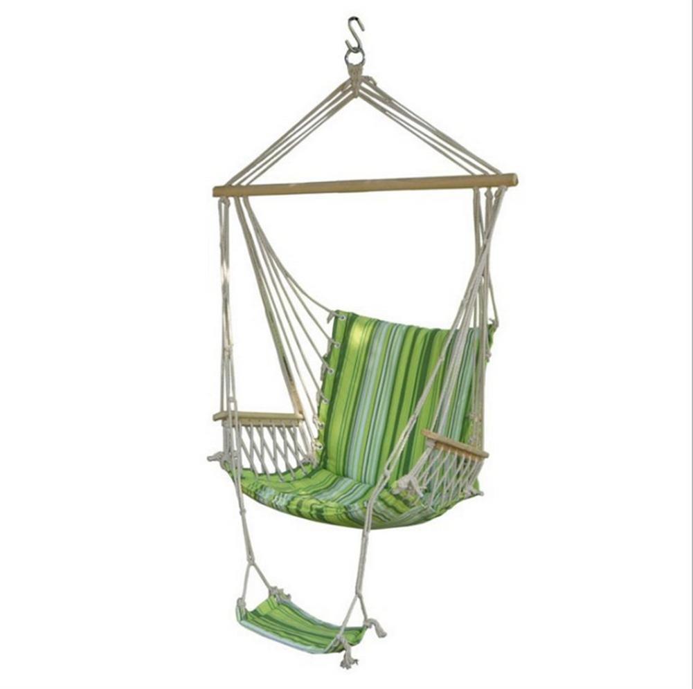Silla de ocio al aire libre de interior de lona llevar DZW barra de Color llevar lona la silla del oscilación Pedal fácil f88154