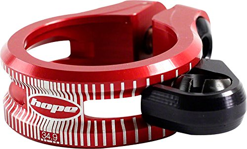 Hope Dropper Seat Post Clamp Bolt On 34.9mm Red Aluminum 34.9 with Cable Guide by Hope