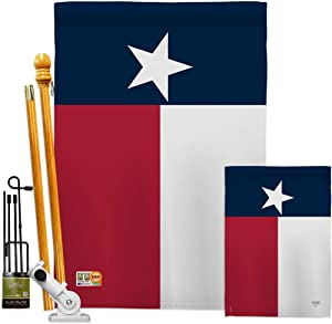 Breeze Decor Texas State Garden House Flag - Kit Regional States USA American Territories Republic Country Particular Area - Decoration Banner Small Yard Gift Double-Sided Made in 28 X 40