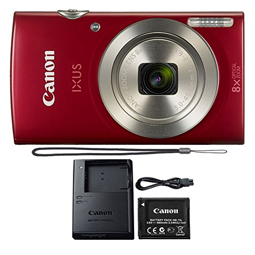Canon PowerShot IXUS 185 / Elph 180 20MP Compact Digital Camera Red by Teds