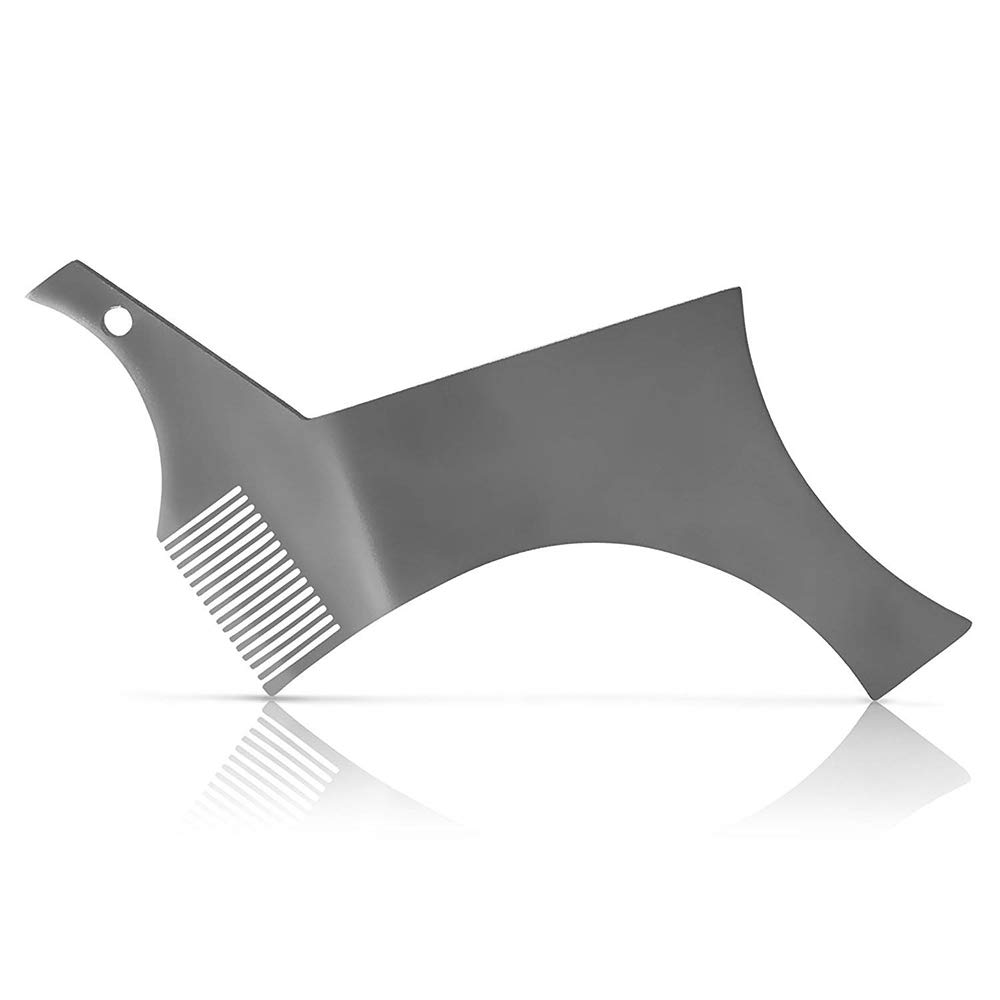 Festnight Beard Shaper Stencil Stainless Steel Beard Shaping Guide & Styling Tool for Perfect Line up & Edging Works with Beard Trimmer or Razor for Beard & Facial Hair