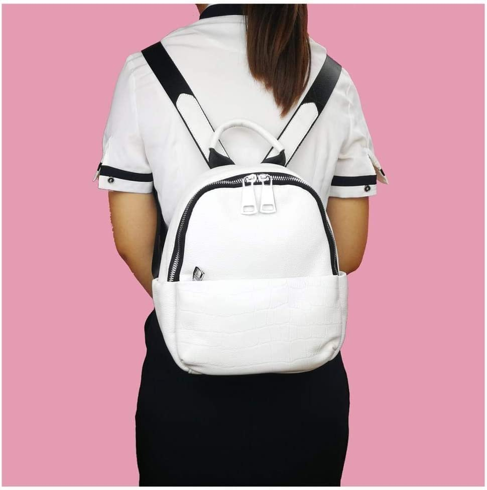 TIANXI Ladies fashion backpack, ladies work backpack can be used for business daily work appointment travel vacation vacation gym hiking backpack (Color : White) White