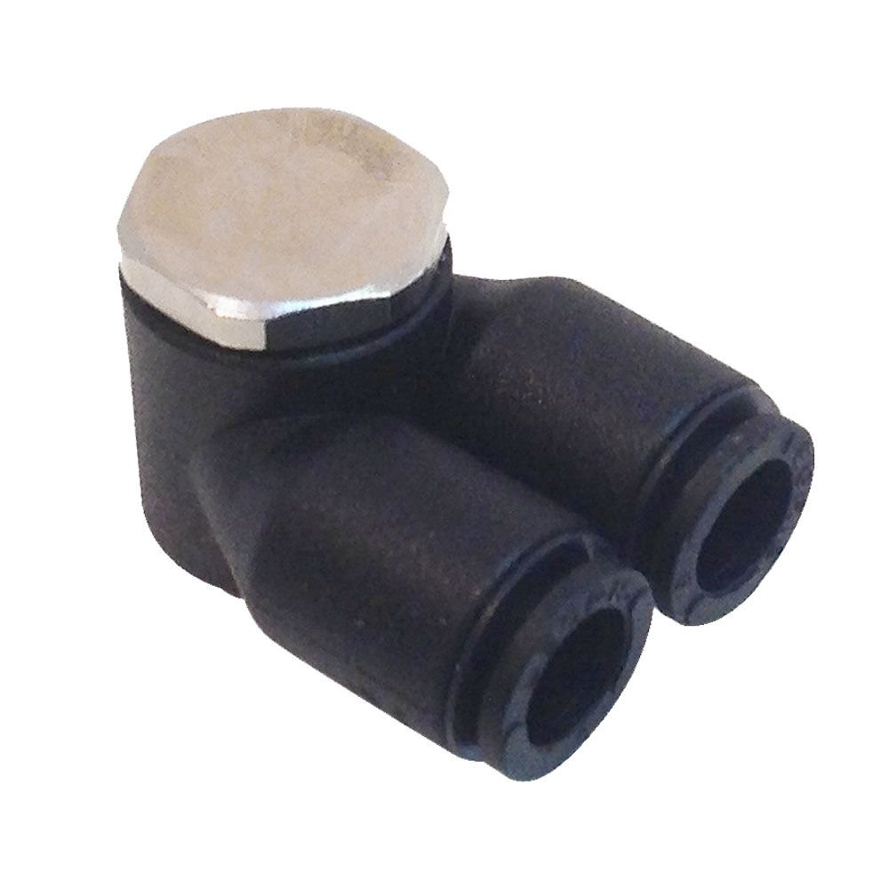 Parker 369PLPTJ-10M-6G-pk10 Composite Push-to-Connect Fitting, Tube to Pipe, Glass Reinforced 6.6, Push-to-Connect and BSPP Twin Banjo, 10 mm and 3/8'', Nylon (Pack of 10)