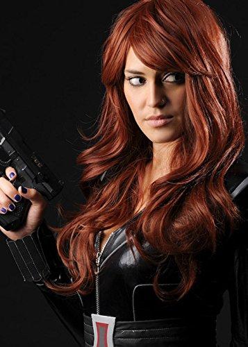 Ladies Long Auburn Black Widow Style Wig (Black Widow Wig)