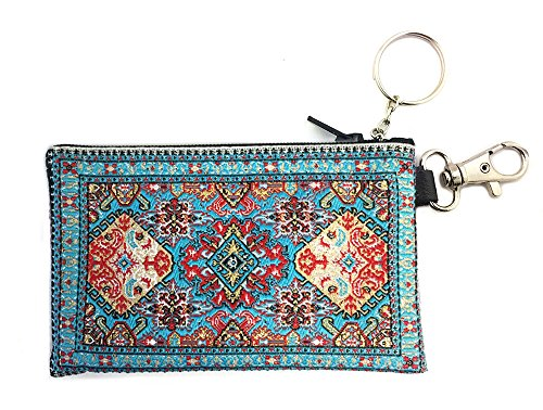 Religious Gifts Turquoise Cloth Key Chain Coin Change