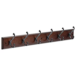 LIBERTY 165541Six Scroll Hook Rack Cocoa and Soft Iron,27-Inch