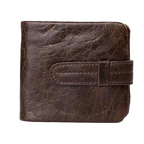 Cuir portefeuille café size Pc Pour color Hommes D'affaires 1 Avec Shuzhen xXwdqH114