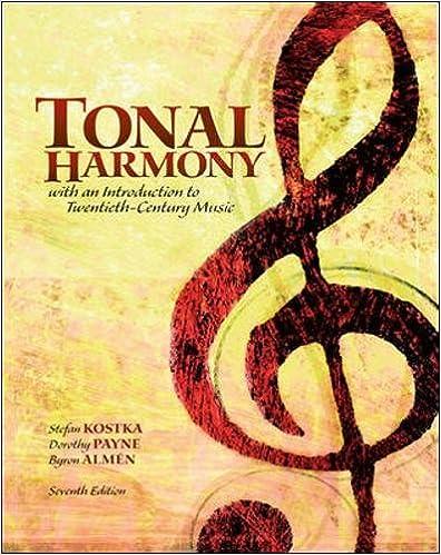 tonal harmony kostka 7th edition