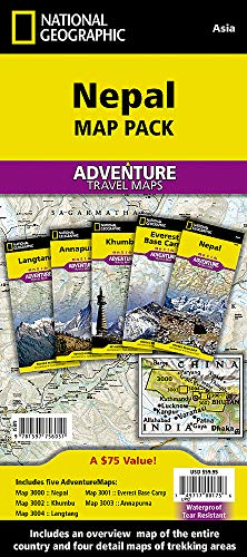 Nepal [Map Pack Bundle] (National Geographic Adventure Map) (Travel To Nepal From India By Road)