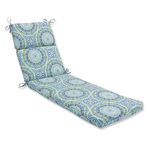 Pillow Perfect Outdoor   Indoor Delancey Lagoon Chaise Lounge Cushion, 72.5 in. L X 21 in. W X 3 in. D (Lounge Chaise Bohemian)
