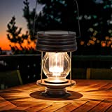 "Hanging Solar Lights Outdoor - 8.3"" Solar Powered"