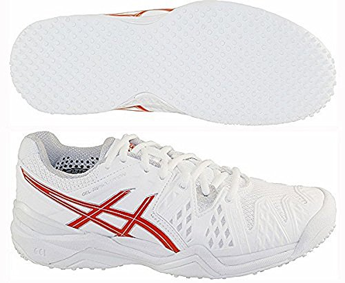 Asics Gel-Resolution 6 Grass - Scarpa Tennis Donna - Women's Tennis Shoes - E55UJ 0110 (EU 39.5 - CM 25 - UK 6)