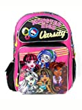 "Best Monster High High School Back Packs - Monster High Backpack - Pink Varsity 16"" Large Review"