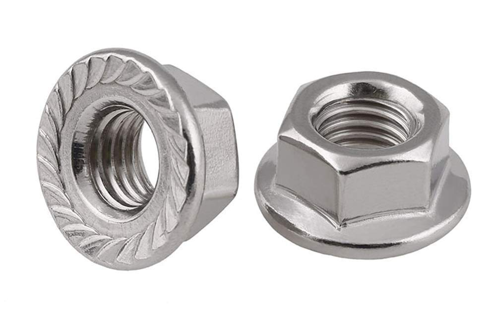 3/8''-16 Serrated Hex Flange Nuts / 18-8 Stainless Steel (Quantity: 1600 pcs)