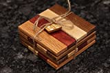 Set of Natural Wood Coasters (Purpleheart)