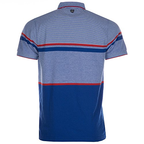 Duck and Cover Herren Illusion Pinstripe Polohemd
