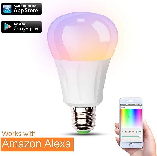 iHomma Inteligente WiFi Bombilla LED E27, Compatible Amazon Alexa ...