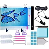 Diamond Painting Light Pad Board – Dimmable A4 LED Light Box – 24 Piece Tool Kit,Design for Rhinestone Embroidery,Crystal Cross Stitch,Drawing,Sketching,Tracing,Full Drill & Partial Drill Painting