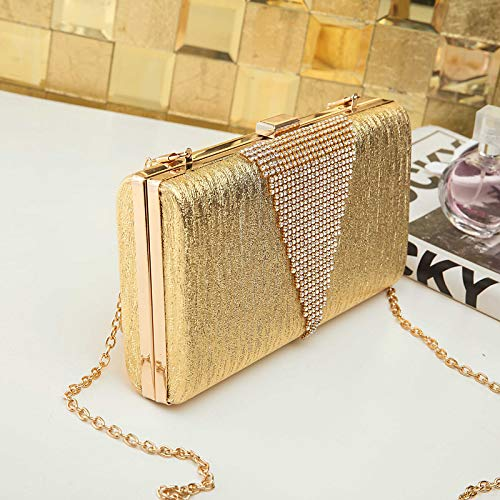 Silver Bag À Women's Black Bags Capacité Evening PU sac main Fourre Tout Pink à Rhinestone De Or Polyurethane Main QZTG Sacs Crystal Blushing Grande S8tn7aq