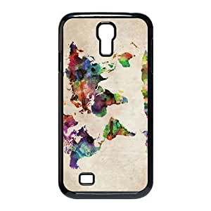 Custom Your Own Personalized Fuuny World Map Urban Watercolor SamSung Galaxy S4 I9500 Case, Snap On Hard Protective World Map Galaxy S4 Case Cover by icecream design