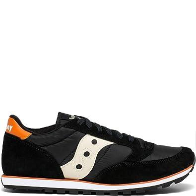 pretty nice c67e3 8f470 Saucony Originals Men s Jazz Lowpro Sneaker Black Orange 8.5 ...