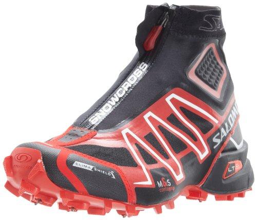 SALOMON Men's Black/Bright Red/Cane Snowcross CS 9 D(M) US