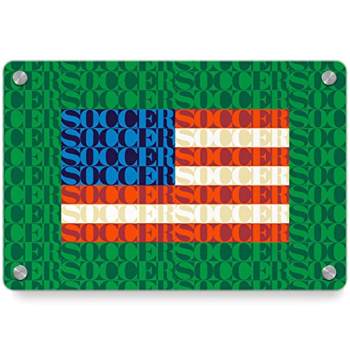 American Flag Mosaic | Soccer Metal Wall Art Panel by ChalkTalkSPORTS | Multiple Colors