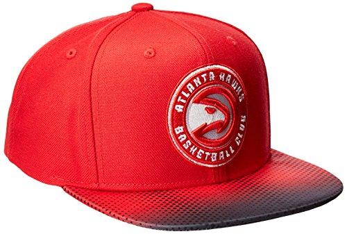 NBA Atlanta Hawks Men's Tail Sweep Flat Brim Snapback Hat, Red, One Size