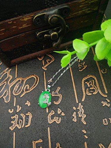 Elegant Casket - yu Natural Jade Chalcedony maleic Mosaic Necklace Pendant s925 Send Send Caskets