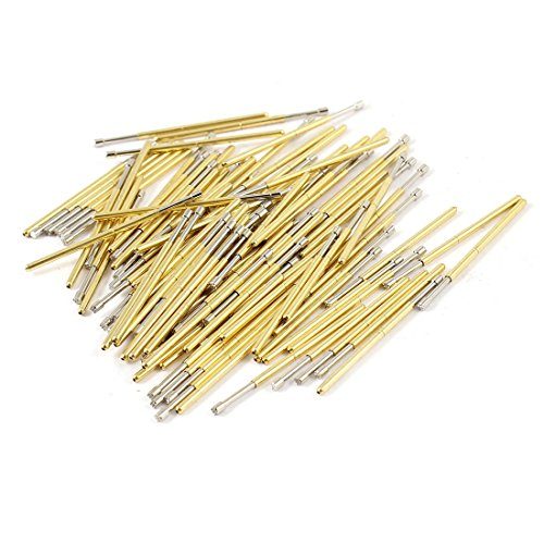 uxcell 100 Pcs P100-H2 1.5mm 9-Point Plum Tip Spring Test Probes Pin