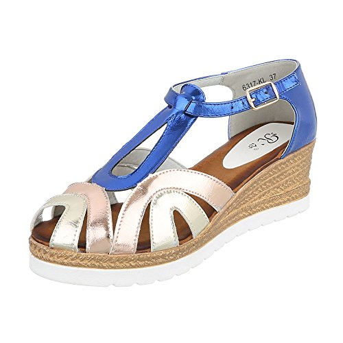 Blau Gold femme Spartiates Ital Design 1SwTxIn
