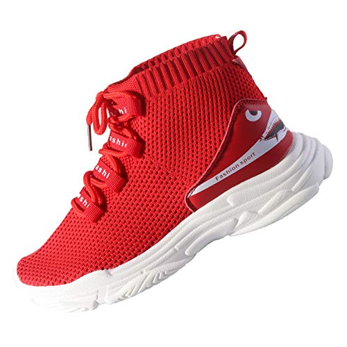 PENGKE Kid Boys Girls Running Shoes and Fashion Sneakers Comfortable Breathable Light Weight Slip on Cushion