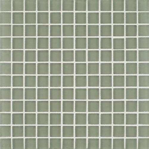 Arizona Tile 1 by 1-Inch Skylights Matte Glass Tile on a 12 by 12-Inch Mosaic Mesh, Kiwi, 11-Pack (Not CA/VT Compliant) ()