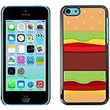 SKCASE Center / Slim Snap On Hard Case Cover - Food Pop Art Junk Brown - iPhone 5C