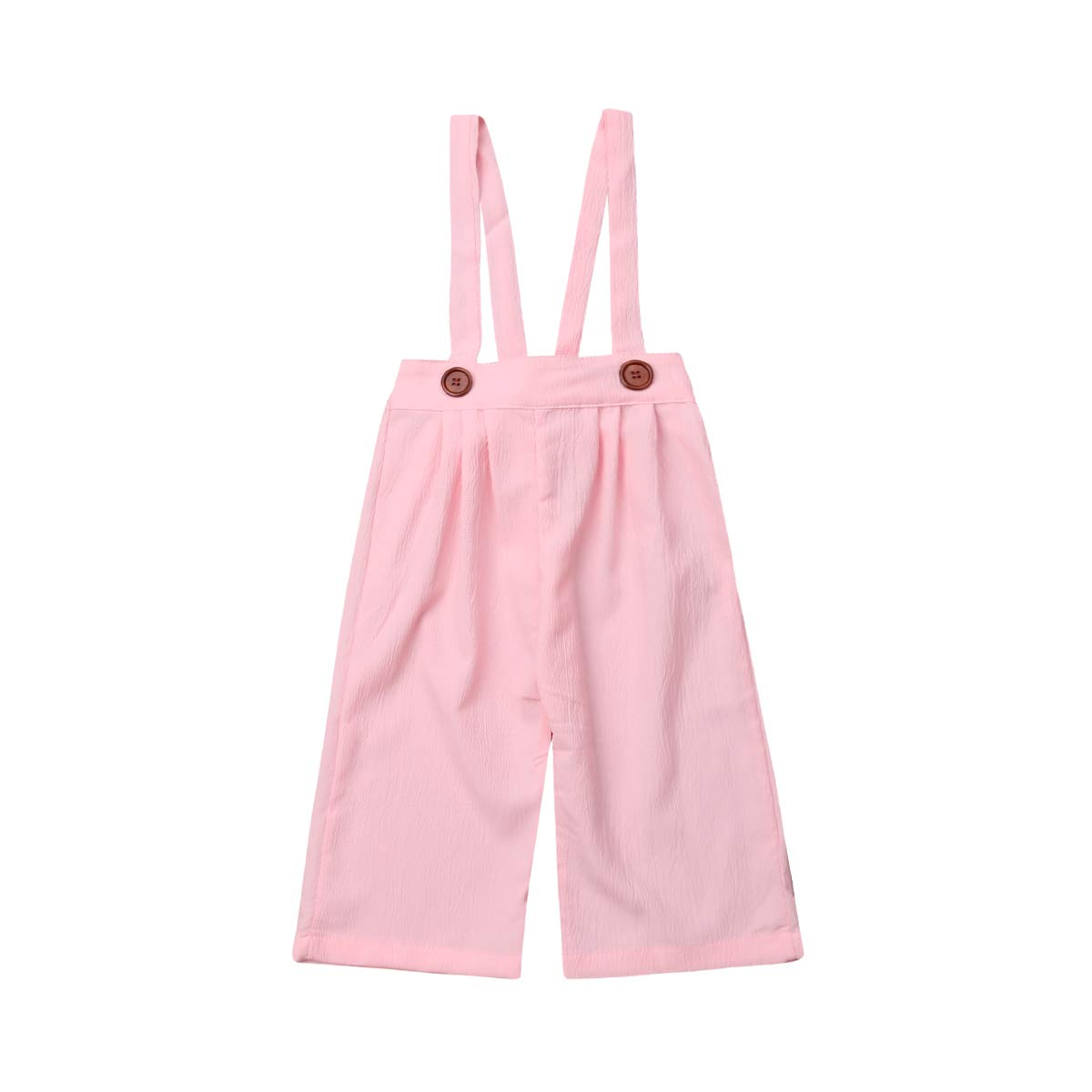 FUFUCAILLM Girl Toddler Clothes Chiffon Suspender Pants Overall Bottom Flared Summer Casual Trousers